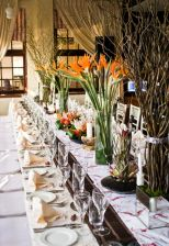 African Bird of Paradise Centerpiece and Tablescape – shared by Lemontree Concepts