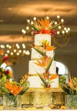 Bird of Paradise Wedding Cake – shared on Laissez Affairs