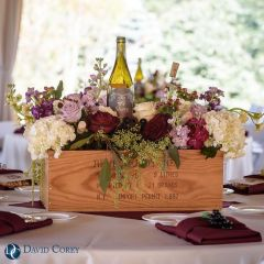 Vineyard Inspired Wine Bottle Centerpiece – shared on David Corey Photography