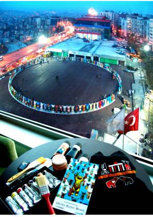 Buddy Bears in istanbul Pera Meydanı