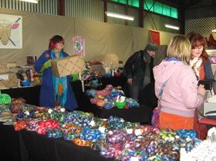 Mandie busy selling stuff