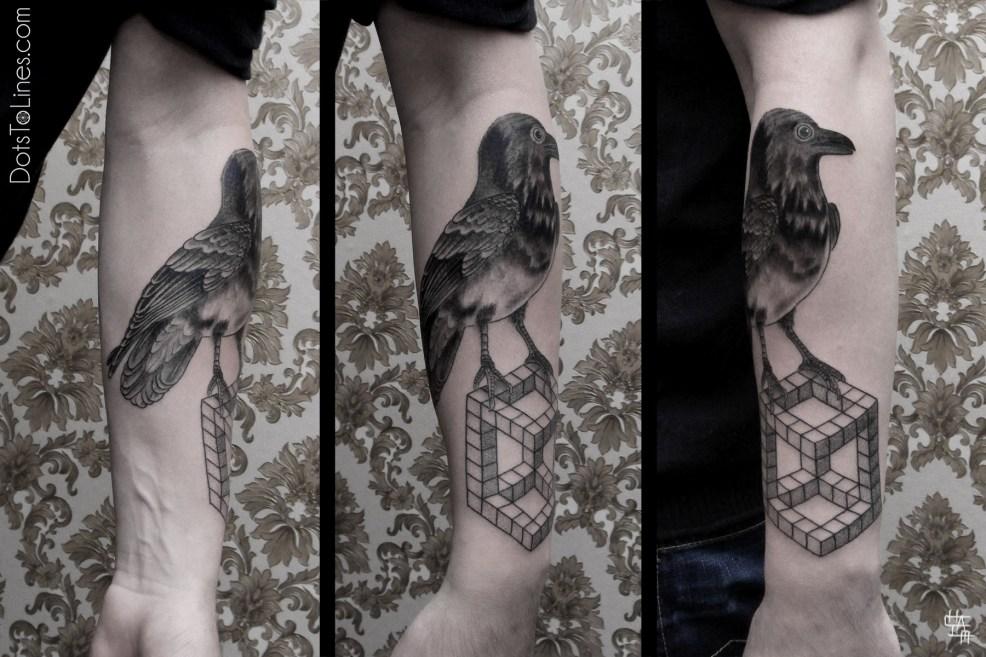 татуировка ворон значение эскизы тату и фото