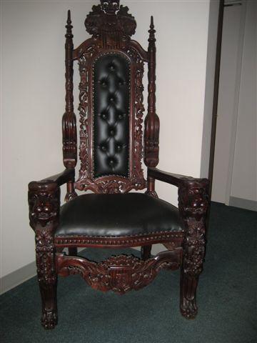 black gothic throne chair personalized childrens canada 42 – mahogany lions head kings uniquetiques