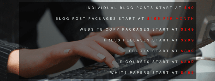 Pricing and Rates for Copywriting Services by Angie Papple Johnston