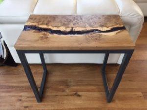 Oak Resin River Side Tables Unique Wild Wood Furniture