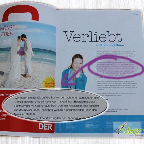 Uniqz - Brautmagazin - Presse