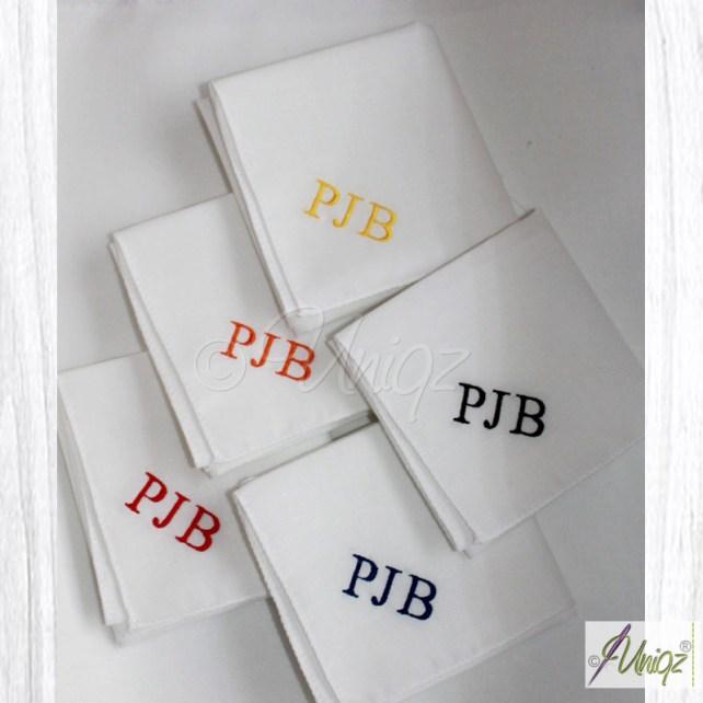 Herren Taschentücher mit Monogramm