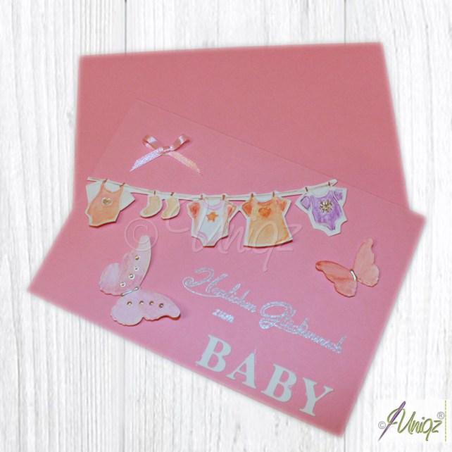 Glückwunschkarte zur Geburt, Mädchen