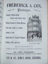 20. advert - Frederick A. Cox proptery purveryor