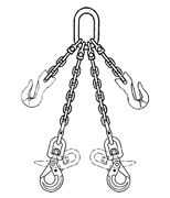 3 Leg Grade 80 Alloy Overhead Lifting Chain Sling Page 1