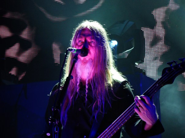 Marco Hietala (basse et chant) et son groupe Nightwish, au Luxembourg en avril 2012.