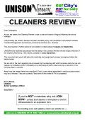 Cleaners & Supervisors Review Update 5 July 2017