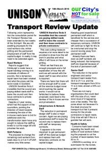 Transport update
