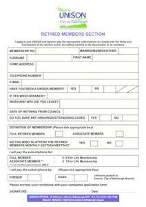 thumbnail of Retired Members Application