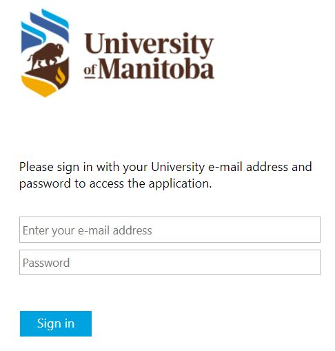 UM Learn login page screenshot