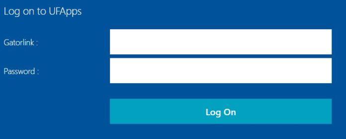 UF Apps login page