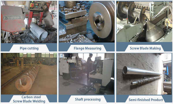 Fabrication process of screw conveyor