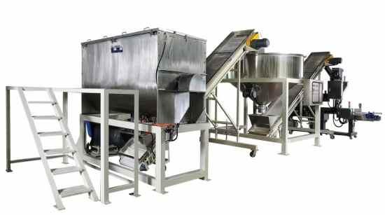 powder mixing packing system