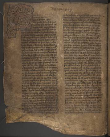 La pagine del manoscritto in cui inizia la saga del conte Mágus.