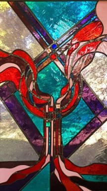 Abstract stained glass design