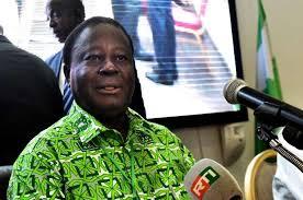 Henry Konan Bédié, président du PDCI-RDA