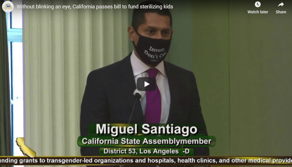 Sterilize Children? CA Assembly Passed Legislation Approving EXACTLY That! [VIDEO]