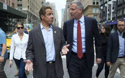 VIDEO: Massive 'F–k Cuomo and de Blasio' mural painted in NYC as 'Peaceful Protest'