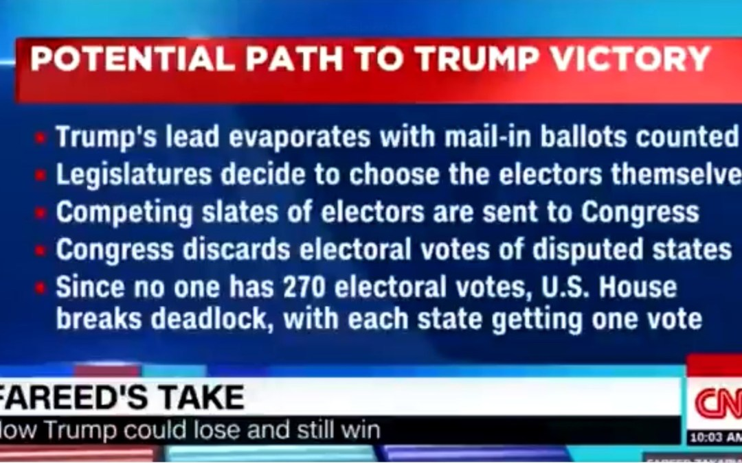 CNN: How Trump Could 'Lose' The Election—And Still Remain President. The US House Would Re-Elect President Trump 26 -23