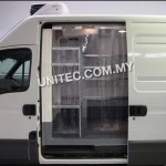 pvc curtain, pvc strip, truck, van,