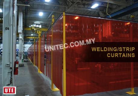 Welding Curtain Tinted Red Unitec Enterprise
