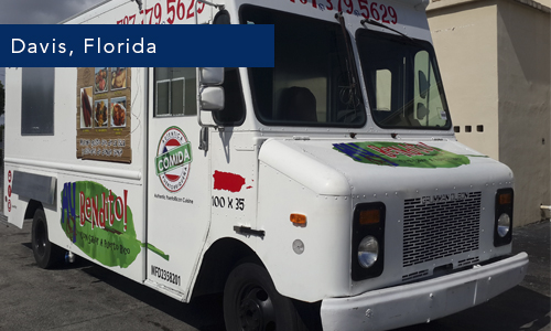 Davis, Florida ay bendito foodtruck by united food truck Miami