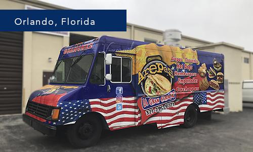 Orlando Florida Arepas la gran caraca food truck