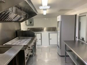 Tacos Concession Trailer kitchen