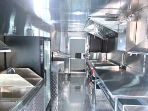 food truck kitchen inside
