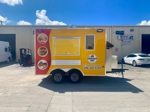 12 ft concession trailer yellow for sale