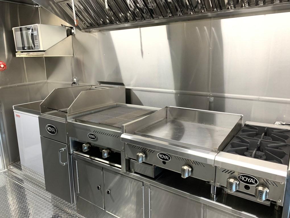 Deluxe kitchen combination concession trailer