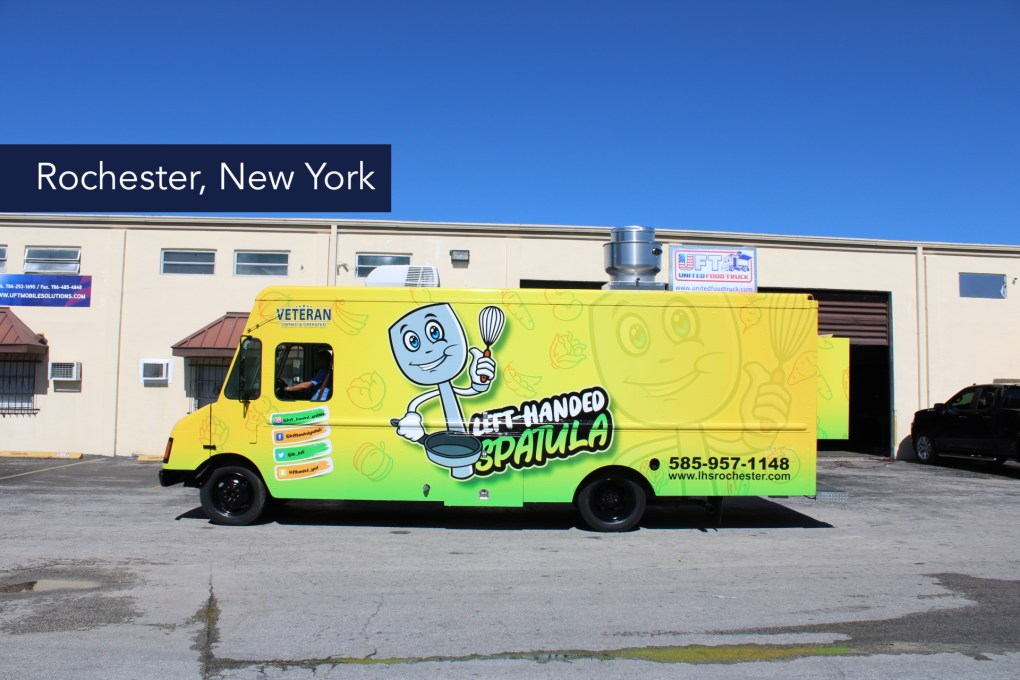 Left handed spatula food truck