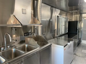 food truck kitchen inside at united food truck