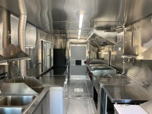 stainless steel kitchen food truck