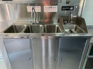 three compartment sink for food truck
