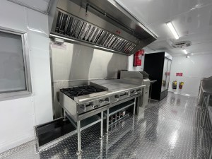kitchen inside in a concession trailer