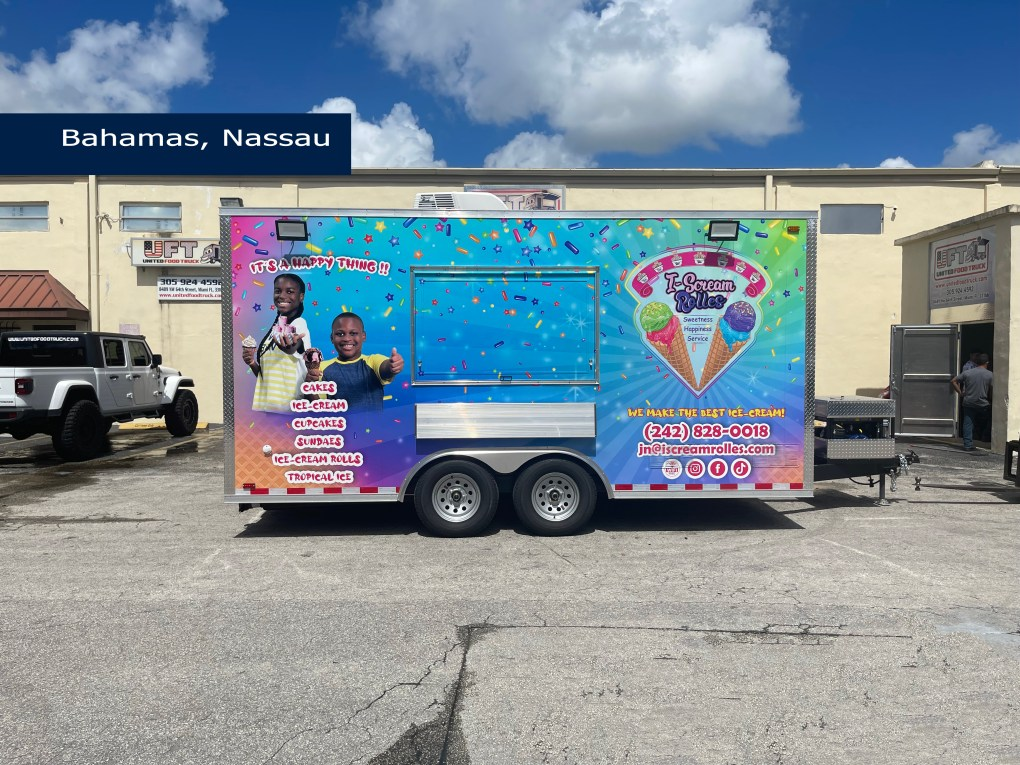 ice cream concession trailer