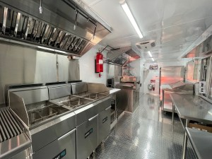 kitchen for a catering trailer