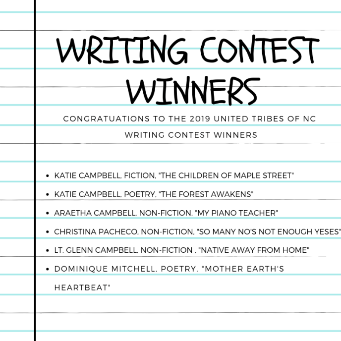 writing contest WINNERS