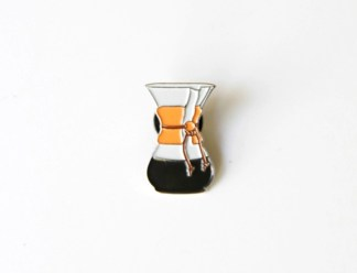 Chemex Coffeemaker Enamel Badge