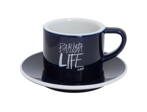 Barista Life Loveramics Coffee Cup and Saucer Navy