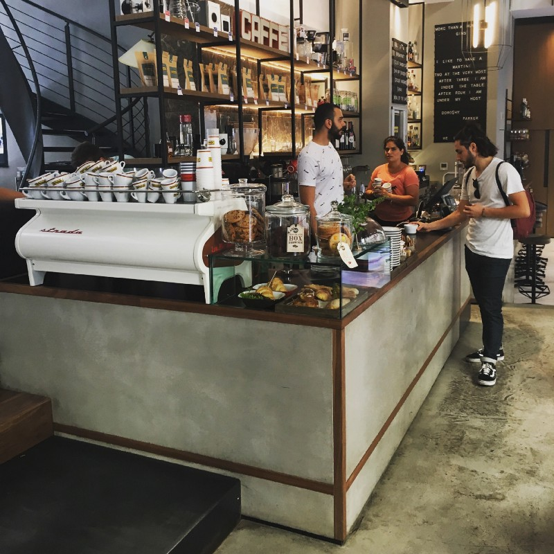 Cheaper rents and different planning laws have allowed continental coffee businesses to more readily explore a variety of retail formats, like Ditta Artigianale in Florence.