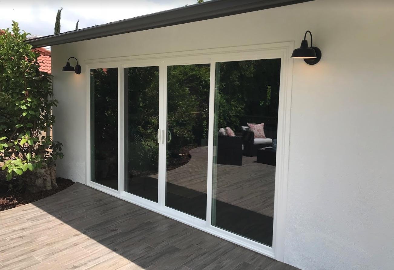 four panel sliding patio doors