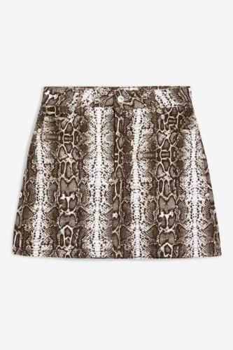 taylor swift reputation tour outfit ideas topshop snake print denim skirt