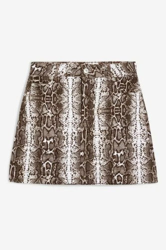 taylor swift reputation tour outfit ideas topshop snake print denim skirt